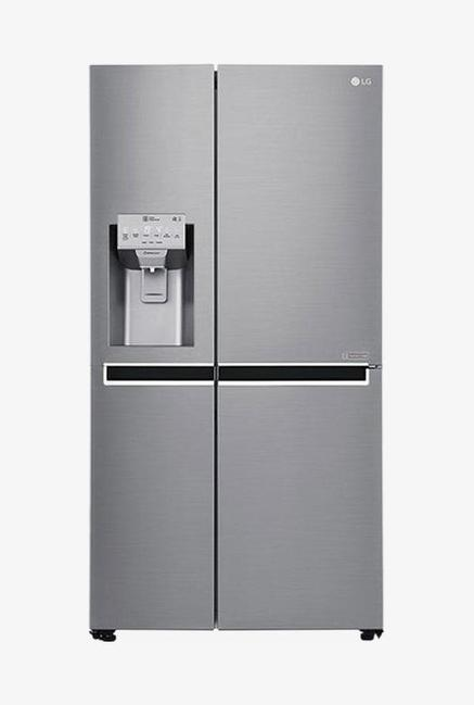 LG GC-L247CLAV 668 L Frost Free Side by Side Refrigerator, Shiny Steel