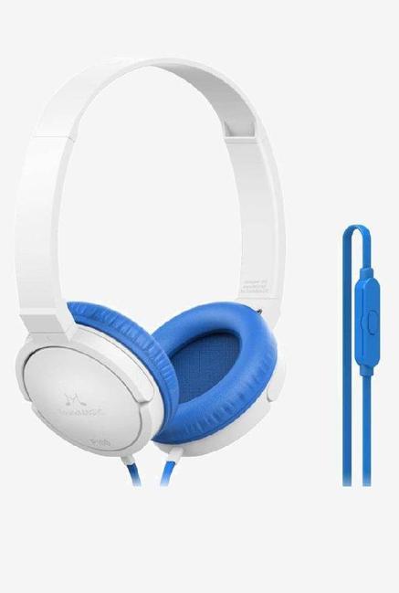 SoundMagic P10S Headphones with Mic  White/Blue