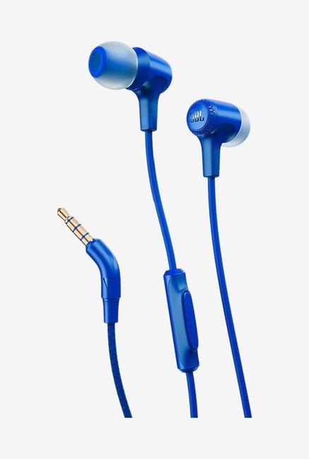 JBL E15 With Mic In The Ear Earphones, Blue