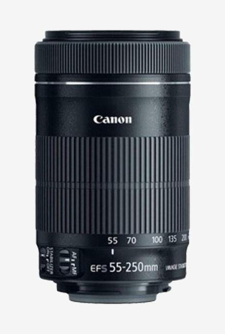 Canon EF S 55 250mm 1:4 5.6 IS II Zoom Lens  Black