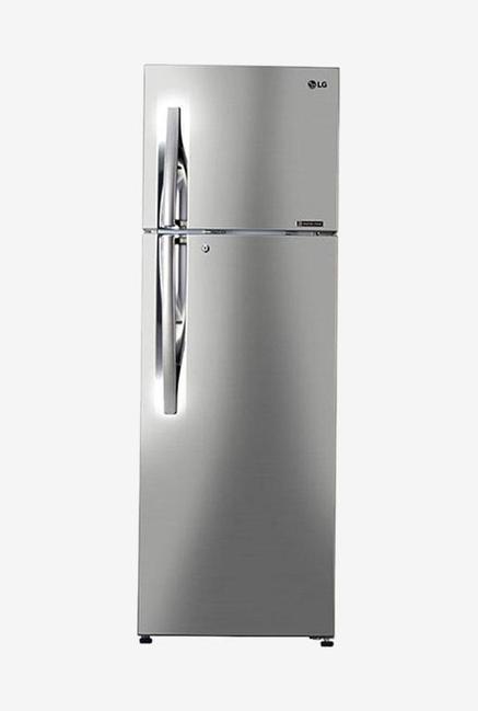 LG GL-C372RPZU 335 L 3 Star Frost Free Double Door Refrigerator, Shiny Steel