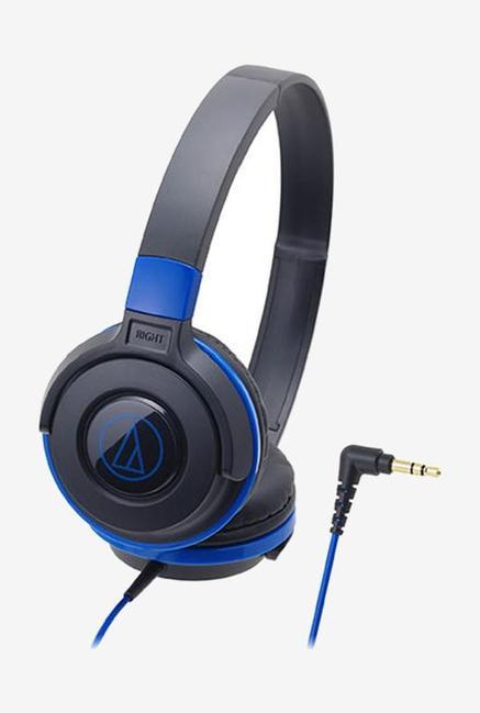 Audio Technica ATH-S100BBL Street Monitoring  On Ear Headphones, Black & Blue