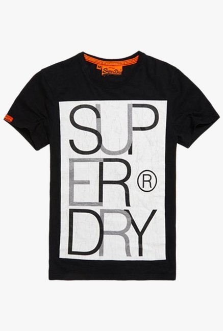 Superdry Black Crew Neck Cotton T-Shirt
