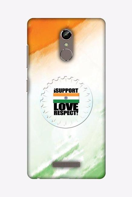 Buy Amzer I Support Love India Designer Case for Gionee S6s