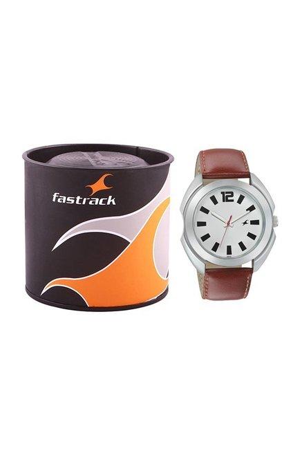 Fastrack NK3117SL01 Bare Basics Analog Watch for Men