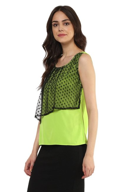 Mayra Lime Lace Top
