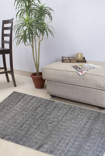 The Rug Republic Hand Woven Charcoal Pet Canberra