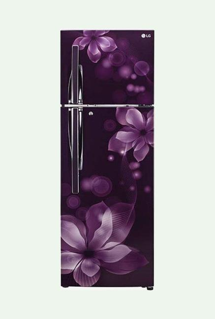 LG GL-T292RPOY 3 Star 260 Liters Double Door Refrigerator (Purple Orchid)