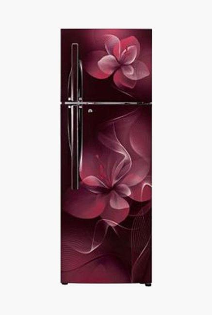 LG GL-T292RSDX 4 Star 260 Liters Double Door Refrigerator (Scarlet Dazzle)
