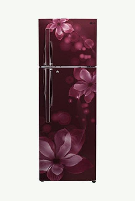 LG GL-T302RSOY 3 Star 284 Liters Double Door Refrigerator (Scarlet Orchid)