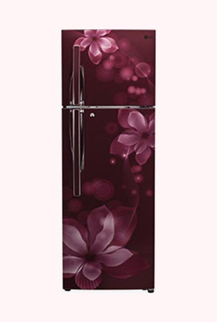 LG GL-T322RSOY 3 Star 308 Liters Double Door Refrigerator (Scarlet Orchid)