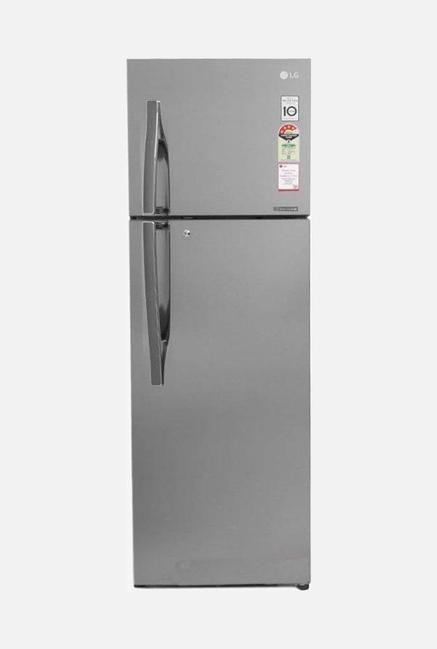 LG GL-U402JPZX 4 Star 360 Liters Double Door Refrigerator (Shiny Steel)
