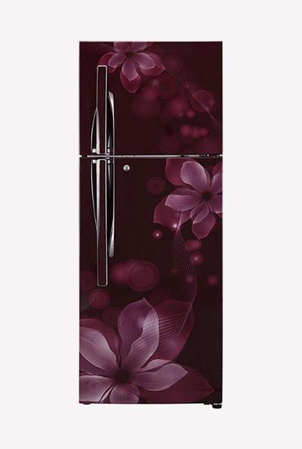LG GL-F282RSOY 3 Star 255 Liters Double Door Refrigerator (Scarlet Orchid)