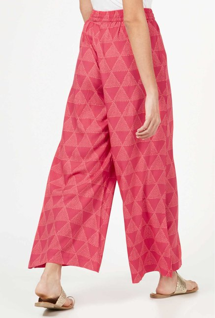 Utsa by Westside Pink Triangle Palazzos