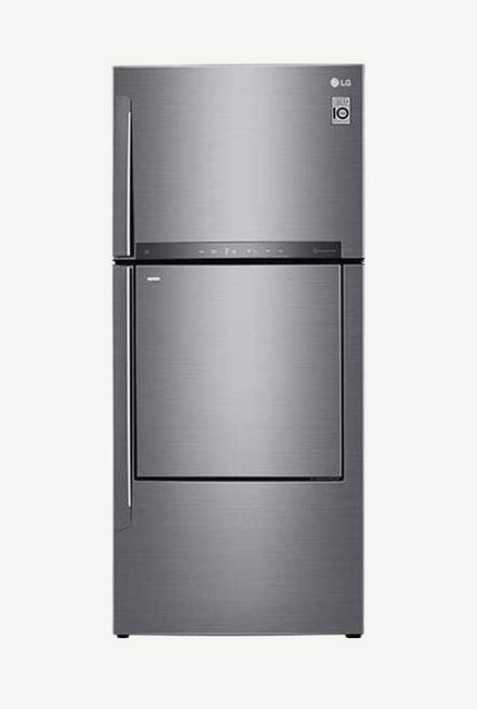 LG GC-D432HLHU 444 L 2 Star Double Door Refrigerator (Shiny Steel)