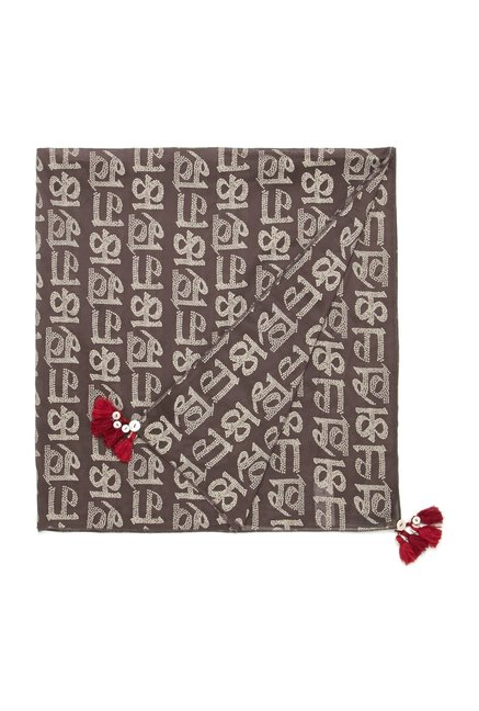 Bombay Paisley by Westside Brown Scarf