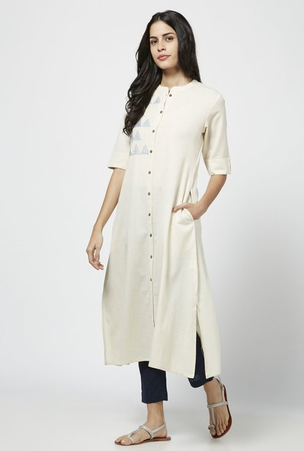 Utsa by Westside Off White Pure Cotton Kurta