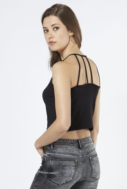 Nuon by Westside Black Berky Crop Top