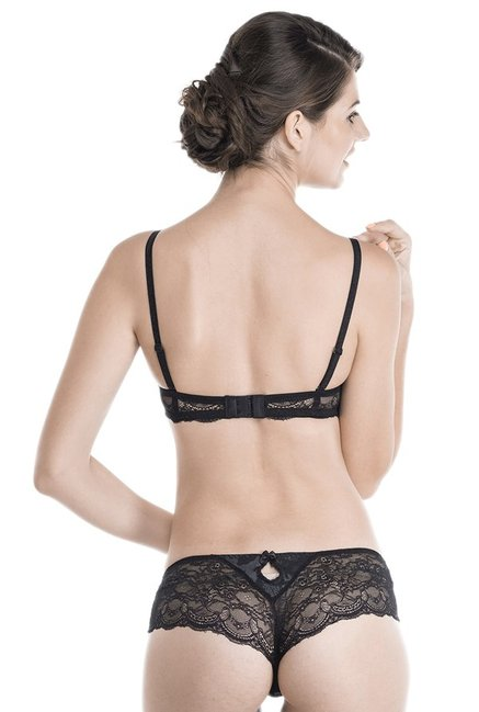 Be Mine by Lingerie Shop Black Under Wired Padded Bra