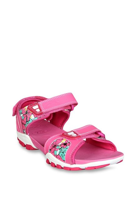 c33acf7c7c1f Buy Clarks Zalmo Word Pink Floater Sandals for Girls at Best Price   Tata  CLiQ