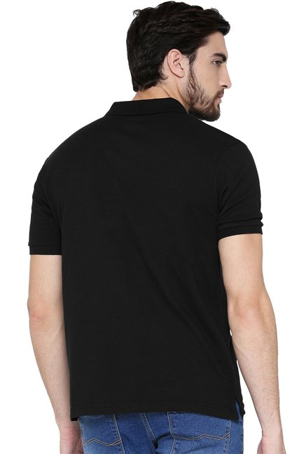 Red Tape Black Half Sleeves T-Shirt