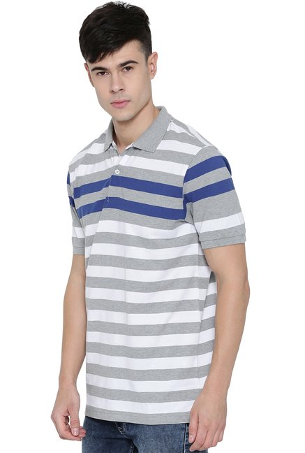 Red Tape White Slim Fit Half Sleeves T-Shirt