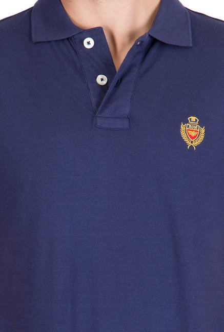 Red Tape Navy Slim Fit Polo T-Shirt