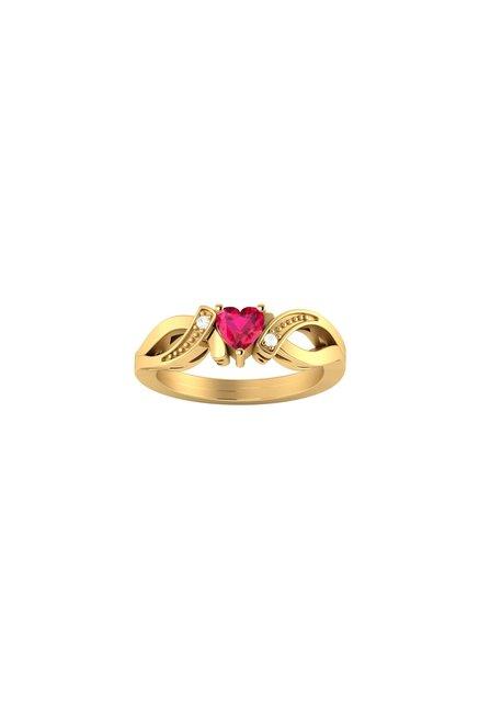 de9a58776c947 Buy Voylla Golden Sterling Silver Heart Designer Ring for Women At Best  Price   Tata CLiQ