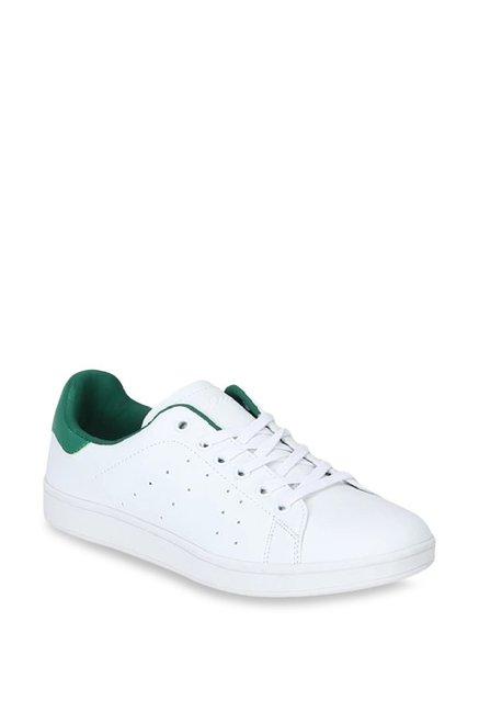 Buy Lee Cooper White \u0026 Green Sneakers
