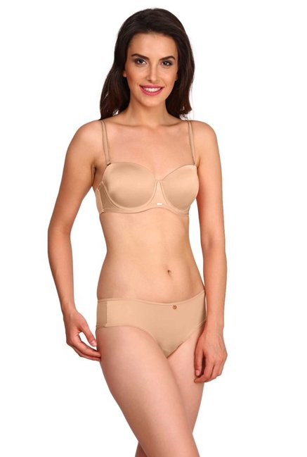 Jockey Beige Under Wired Padded Multiway Bra - 2101