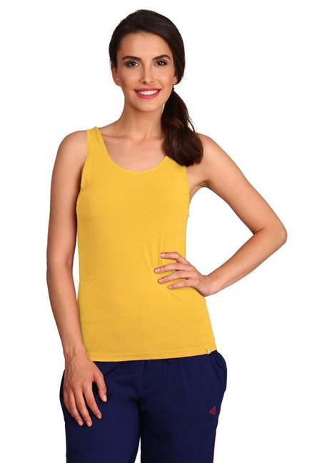 97b1285e444f34 Buy Jockey Yellow Cotton Tank Top - 1335 for Women Online   Tata ...