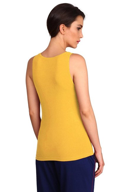 1aa37f97e3fb66 Buy Jockey Yellow Cotton Tank Top - 1335 for Women Online   Tata CLiQ