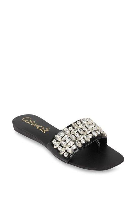 19c0b5295 Buy Catwalk Black Casual Sandals for Women at Best Price   Tata ...