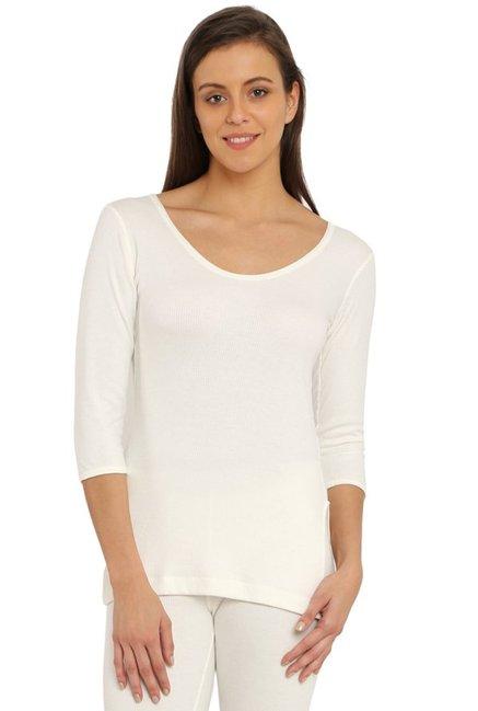 ae33bde5b3deb Buy Jockey Off White Cotton Polyblend Thermal - 2503 for Women Online @  Tata CLiQ