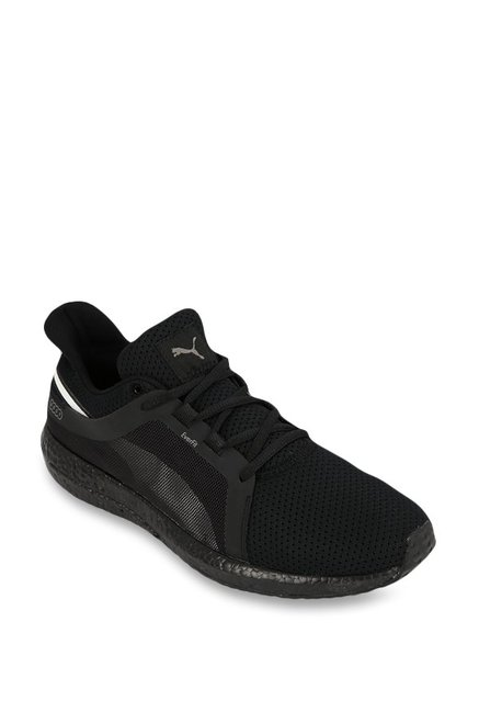 b12fe027e0b Buy Puma Mega NRGY Turbo 2 Black Running Shoes for Men at Best Price   Tata  CLiQ