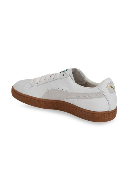 best loved 0f6de cb064 Buy Puma Basket Classic Gum Deluxe White Sneakers for Men at ...
