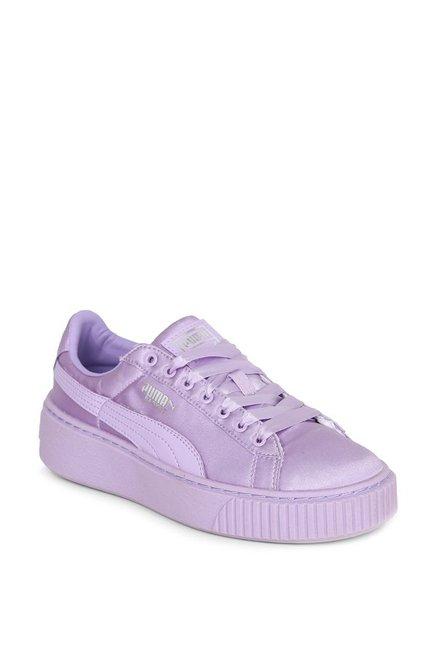 more photos 27cf2 95f57 Buy Puma Basket Tween Jr Purple Sneakers for Girls at Best ...