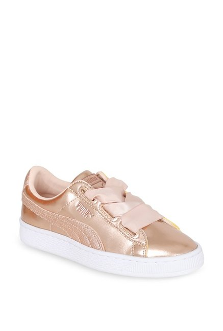 sports shoes 10965 6f220 Buy Puma Basket Heart Lunar Lux Jr Champagne Gold Sneakers ...