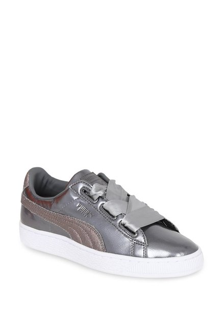 newest collection b72ac 4e46c Buy Puma Basket Heart Lunar Lux Jr Smoked Pearl Sneakers for ...