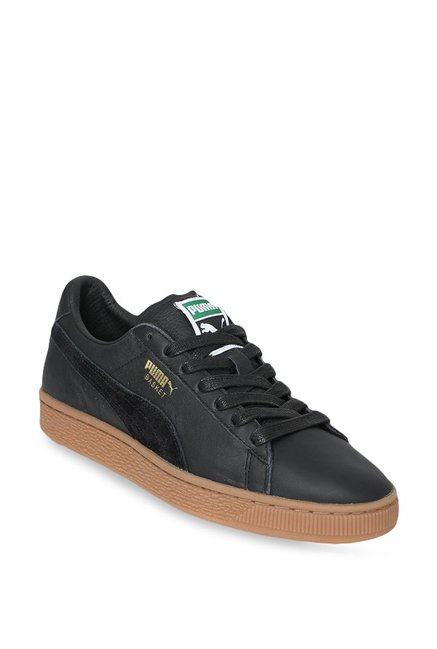 the best attitude 5007d 4cd29 Buy Puma Basket Classic Gum Deluxe Black Sneakers for Men at ...