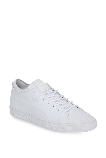 outlet store 19b12 99e86 Buy Puma Basket Classic Sock Lo White Sneakers for Men at ...