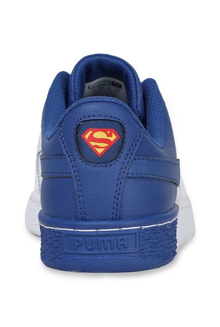 c0023ab7bd7 Buy Puma Basket Jr Justice League White   Limoges Sneakers for Boys ...