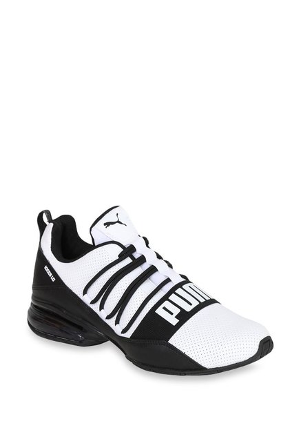 29afc6a55180e9 Buy Puma Cell Regulate SL White   Black Running Shoes for Men at Best Price    Tata CLiQ