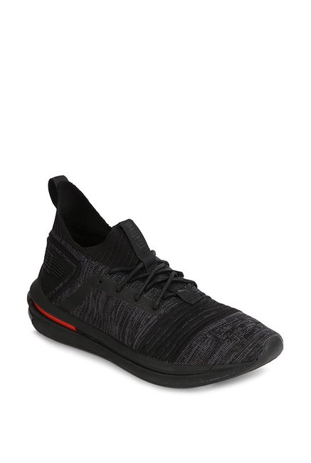 acc5f265563 Buy Puma Ignite Limitless SR evoKNIT Black Running Shoes for Men at Best  Price   Tata CLiQ