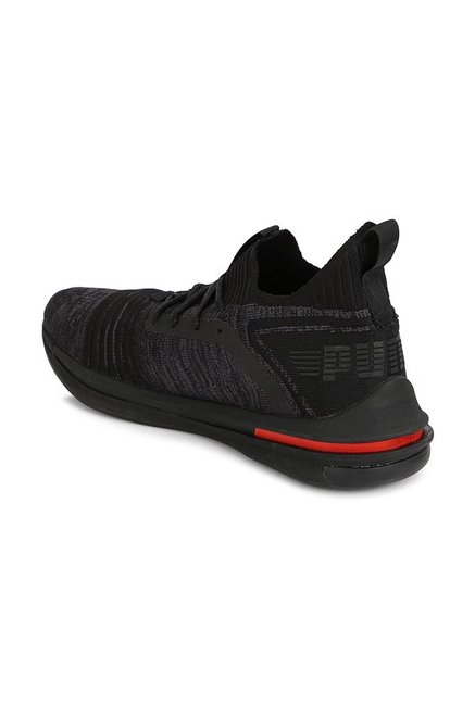 size 40 0b333 7a5cf Buy Puma Ignite Limitless SR evoKNIT Black Running Shoes for ...