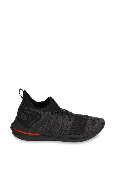785573f84f574 Buy Puma Ignite Limitless SR evoKNIT Black Running Shoes for Men at ...