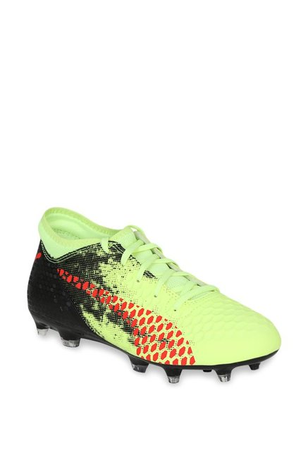 1526fea231 Buy Puma Future 18.4 FG AG Jr Fizzy Yellow Football Shoes for Boys ...