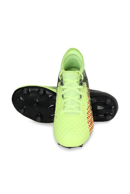 ece5e56850472 Buy Puma Future 18.4 FG AG Jr Fizzy Yellow Football Shoes for Boys ...