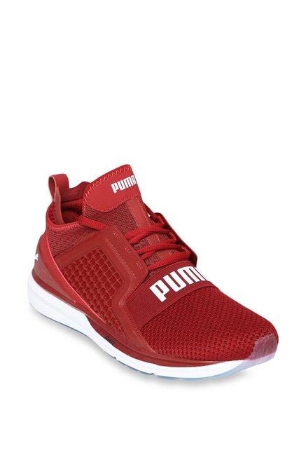 bef46affea9833 Buy Puma Ignite Limitless Weave Red Dahlia Running Shoes for Men at Best  Price   Tata CLiQ