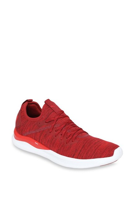 the best attitude 1c52f 38a8d Buy Puma Ignite Flash evoKNIT Red Dahlia Running Shoes for ...